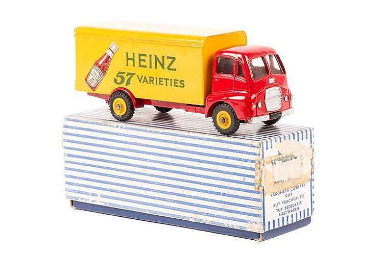 A Dinky Supertoys Guy Warrior 'Heinz' Van (920). Cab and chassis in red wit
