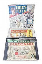 4 boxed Meccano sets. Outfit No.1 an early set wit
