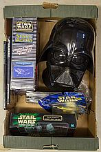 A small quantity of Star Wars related items. An or