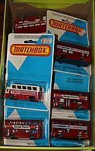 11 Matchbox 75 The Londoner double deck buses. Adv