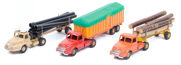 Articulated Tractor Toys And Joys : French dinky toys tractor units with articulated trailers