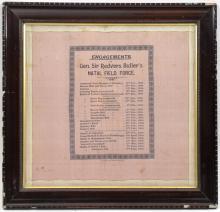 """An interesting Boer War printed handkerchief, """"Engagements of Gen. Sir Redv"""