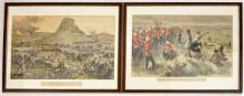 "A pair of Illustrated London News tinted engravings ""Isandlwana Revisited,"