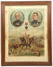 "3 Vic coloured prints,  ""Patient Heroes"", 31"" x 23"" (Royal Field Artillery"