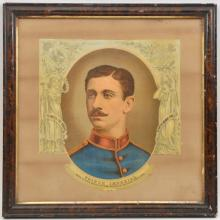 """A Vic coloured print of Sir George White, 27"""" x 23"""", contemporary framed an"""