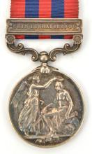 I.G.S. 1854, 1 clasp Chin-Lushai 1889-90 (636 Rifleman Chandarsuari (?) Gur