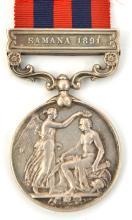 I.G.S. 1854 1 clasp Samana 1891, (192(3, Colour) Serjt G Simpson, 2nd Bn Ma