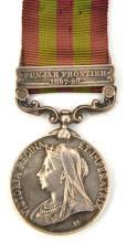 I.G.S. 1895 1 clasp Punjab Front. 1897-98 (script engraved 2911 Pte J. Kell