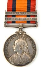 Q.S.A. 2 clasps Rel. of Kimberley, Paardeberg (4038 Pte J. Phipps, Worceste