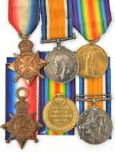 Three: 1914 star, BWM, Victory (7893 Pte F. Taylor 1/Shrops LI), VF -GVF, m