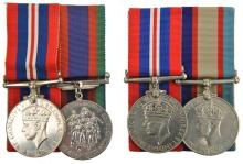 Pair: War Medal and Australia Service Medal (officially impressed 5742 O.N.
