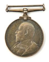 Vol Force LS medal, Ed VII issue (2835 Cpl A Chittenden 1-VB R.W. Kent Regt