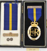 Army Emergency Reserve Decoration,  EIIR, reverse dated 1953, together with