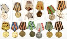 12 WWII Soviet Russian medals, Liberation and Service medals, GC