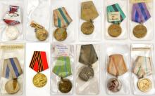 12 different Soviet Russian medals WWII Liberation and Service medals. GC