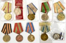 Soviet Russia: 10 different Soviet Russian Liberation and service medals. G