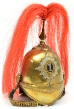 A well modelled miniature helmet of a trooper 1st (King's) Dragoon Guards,
