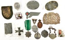A Third Reich Hitler Youth enamelled award with swords,  an Eastern Peoples