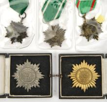 Third Reich Eastern Peoples bravery award, 1st class in gilt, 1st class in