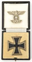 A Third Reich Iron Cross 1st Class,  in its fitted case, also a bar to the