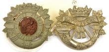 2 Canadian glengarry badges:  Battleford LI and P Albert Battleford Vols. G