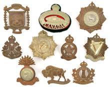 10 pre 1950 Canadian cap/glengarry badges:  Sault Ste Marie & Sudbury (MG),