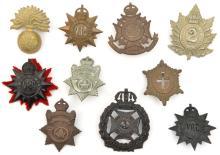 10 pre 1950 Canadian cap/glengarry badges: Gov Gen Foot Guards, Geo V Grena