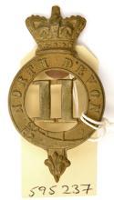 An OR's 1874 pattern brass glengarry badge of The 11th (N Devon) Regt,  cro