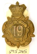 A similar glengarry of The 19th (1st York.N Riding) Regt,  (451) copper lug