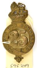 An OR's 1874 pattern brass glengarry badge of The 25th (The King's Own Bord