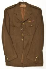 A WWII Coldstream Guards officer's khaki service dress jacket, brass regime