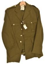 """A khaki """"Uniform Mens Jacket"""" of Cambridge University OTC, staybrite KC but"""