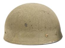 """A very scarce WWII Airborne Troops helmet,  leathering marked """"BMB 1943"""", c"""