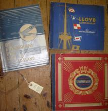 "Three pre war German cigarette card albums: ""Lloyd Flottenbilder, die Welt"
