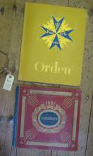 """Two pre war German cigarette card albums: """"Orden, Eine Sammlung der bekannt"""