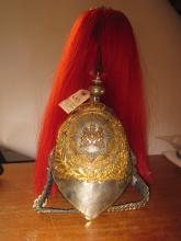 An assembled ERII Household Cavalry helmet,  WM skull (AF), composite ERII