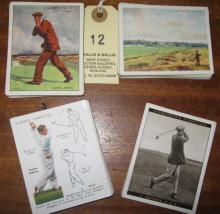 4 sets of Golf, large size cigarette cards: Wills Famous Golfers (25), Golf