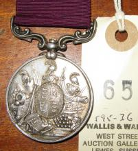 Army LS & GC Vic issue, swivelling suspender, engraved naming (21953 Cy S M