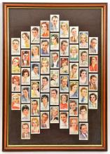 """Players cigarette cards """"Film Stars"""", set of 50, head and shoulders with au"""