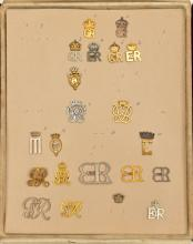 An interesting maker's or military tailor's sample board of personal cypher