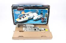 A 1983 Star Wars plastic Y Wing rebel fighter vehicle by Kenner. Complete w