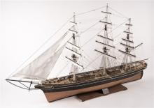A fine scale model of the famous Tea Clipper 'Cutty Sark'. A plank-on-frame