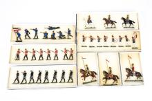 8 Victorian Toy Soldiers.  Set 1B Prussian Guards Band c.1870, 8 pieces. Se