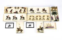 8 Victorian Toy Soldiers.  Set 8A Lifeguard c.1870, 3 mounted. Set 13 Zulus