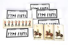 8 Victorian Toy Soldiers. Set 1A Queen Victoria's foot Band, Set 6 pieces.