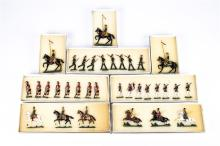8 Victorian Toy Soldiers. Set 2B Prussian Guards Riflemen c.1870, 8 pieces.