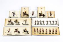 8 Victorian Toy Soldiers. Set 4A The Coldstream Guards c.1870 8 pieces in s