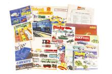 8 Dinky Toys catalogues. 1965, 2x 1969, 1973, 1974, 2x 1975 and 1976. Toget