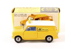 A Dinky Toys AA Mini Van (274). A scarce 2nd type in yellow with white roof