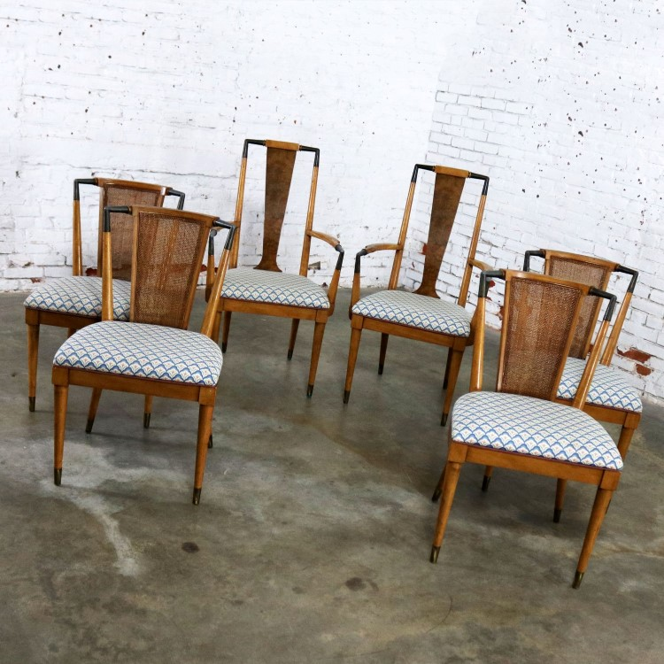 Mid Century Modern Dining Chairs Widdicomb Style Set Of Six